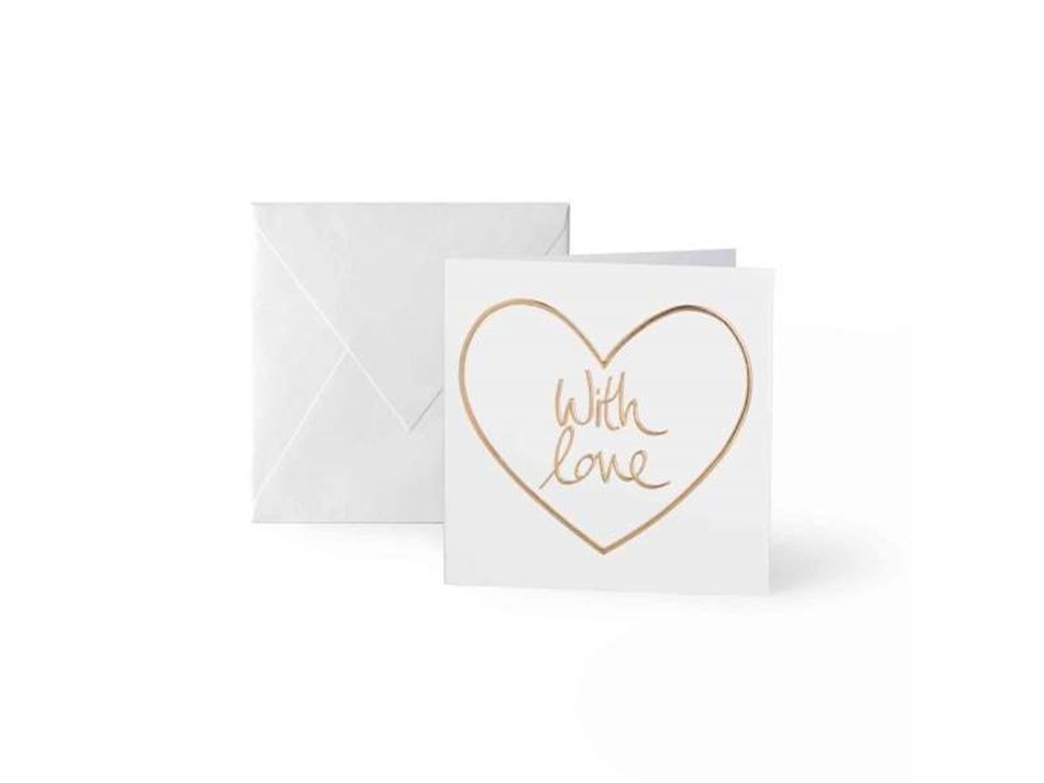 Picture of KATIE LOXTON MINI GREETING CARDS - WITH LOVE - CONTAINS 8 CARDS