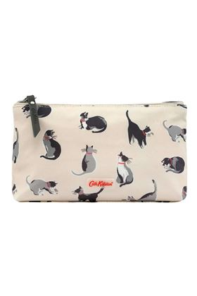 Picture of Cath Kidston Small Painted Cats Matt Zip Make up Bag