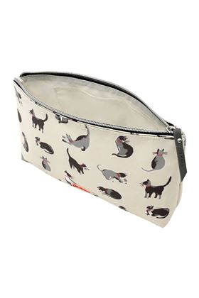 Picture of Cath Kidston Small Painted Cats Matt Zip Cosmetic Bag