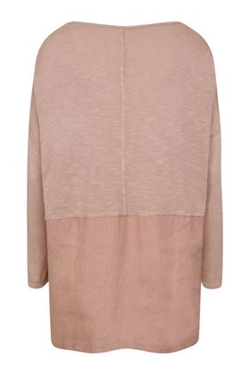 Picture of Muted Tones Linen Mix Raw Edge Top