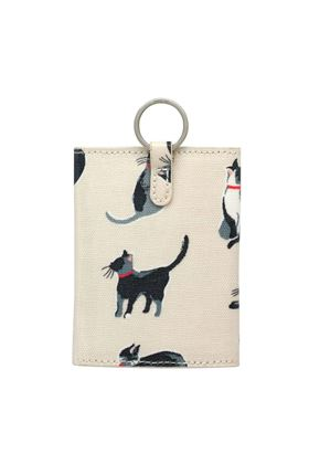 Picture of Cath Kidston Small Painted Cats Folded Card Holder With Keyring