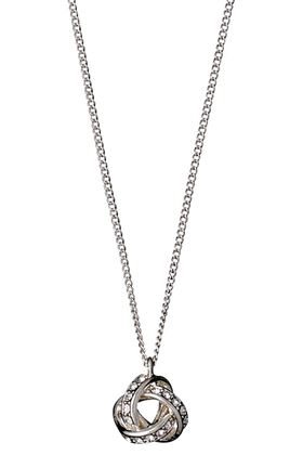 Picture of Pilgrim Katelyn Silver Plated Crystal Necklace