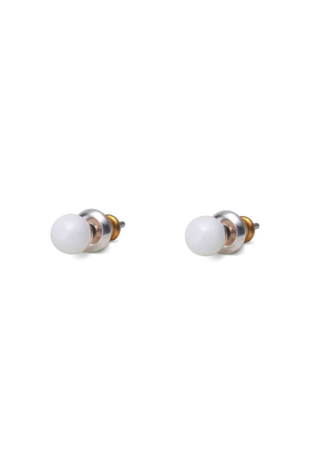 Picture of Pilgrim Rose Gold Plated earrings White