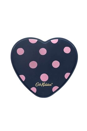 Picture of Cath Kidston Button Spot Printed Resin Heart Mirror