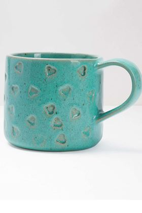 Picture of white Stuff Heart Debossed Mug
