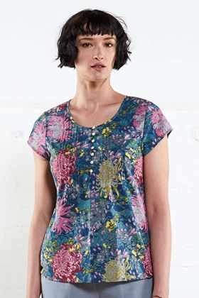 Picture of Nomads Printed Cap Sleeve Blouse