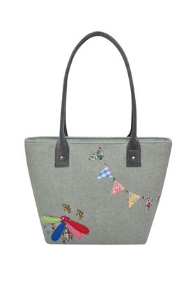 Picture of Earth Squared Herringbone Bunting Tote Bag