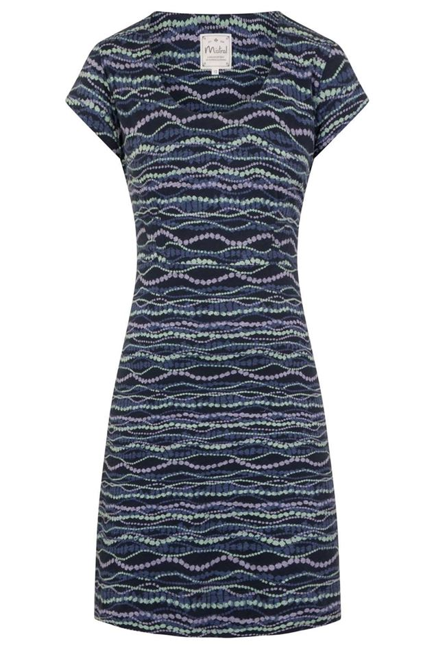Picture of Mistral Wavy Dotty Line Print Dress