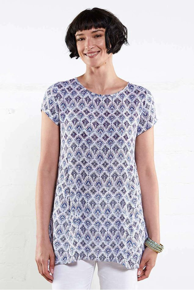 Picture of Nomads Drop Side Tunic White