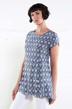 Picture of Nomads Drop Side Tunic Denim Blue
