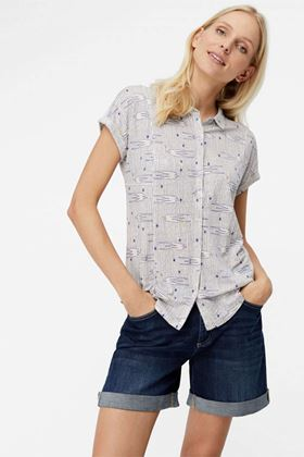 Picture of White Stuff Printed Linen Gobi Shirt