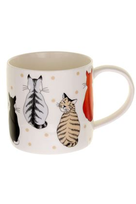 Picture of Ulster Weavers Cats In Waiting Straight Sided Mug