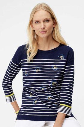 Picture of White Stuff Captain Embroidered Stripe Jumper