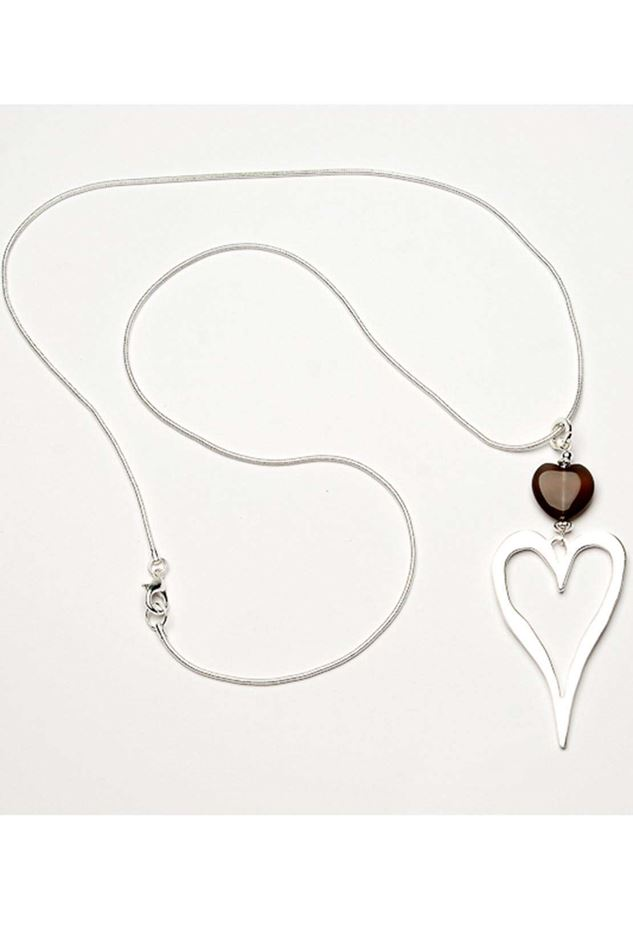 Picture of Eliza Gracious Open Heart Necklace