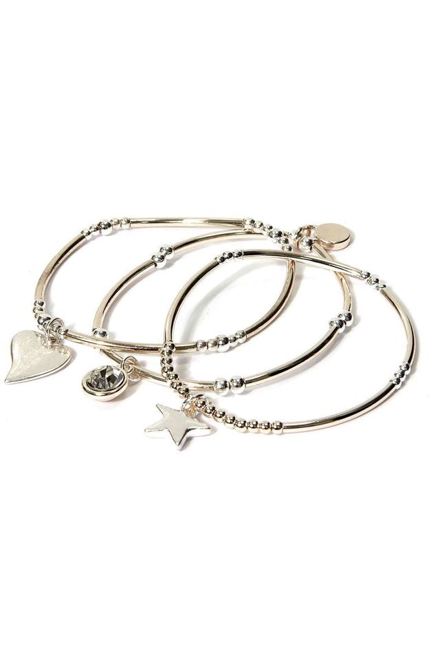 Picture of Envy Heart And Star Charm Bracelet
