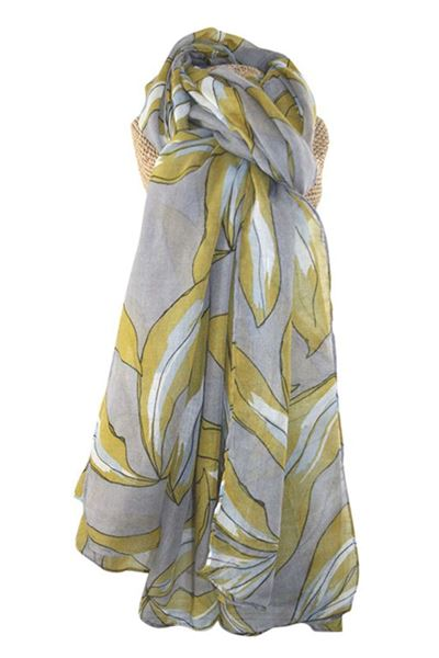 Picture of Lua Sketchy Leaves Print Scarf