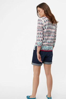 Picture of White Stuff Budgie Birds Printed Jumper