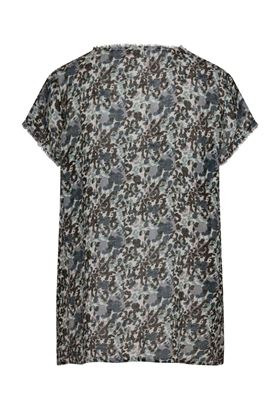 Picture of Muted Tones Leopard Print Linen Top
