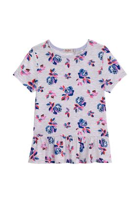 Picture of Cath Kidston Junior Drop Waist Jersey Geo Rose T-shirt
