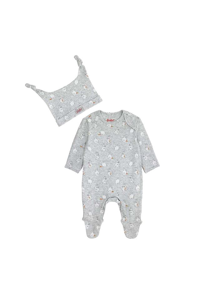Picture of Cath Kidston Little Bunnies Baby Sleepsuit and Hat Gift Set
