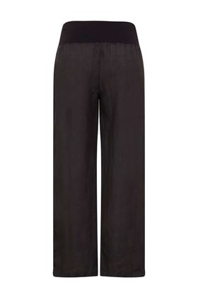 Picture of Muted Tones Cropped Linen Trousers
