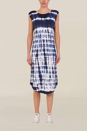 Picture of Muted Tones Shibori  Sleeveless Jersey Dress