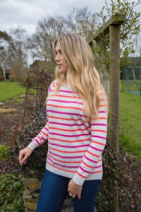 Picture of Luella Victoria Stripe Cashmere Mix Jumper