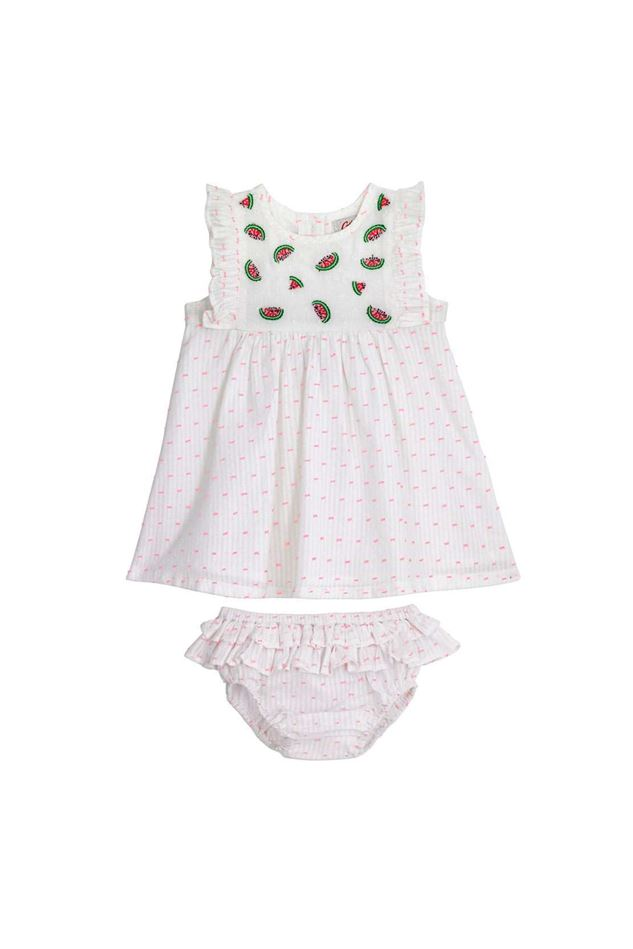 Picture of Cath Kidston Baby Embroidered Dress with Frill and Brief