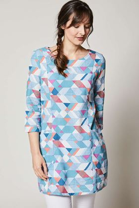 Picture of Lily & Me Everyday Linen Tunic Geo