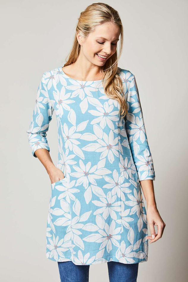Picture of Lily & Me Everyday Linen Tunic Daisy