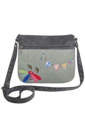 Picture of Earth Squared Herringbone Bunting New Messenger Bag