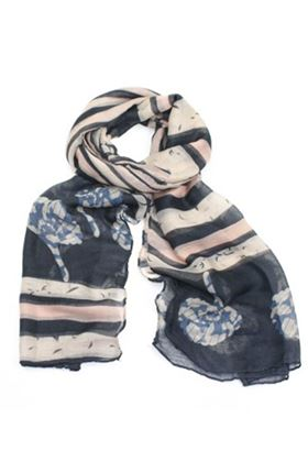 Picture of Poppy Stripey Print Scarf