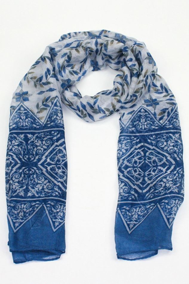 Picture of Poppy Leaf Print Scarf