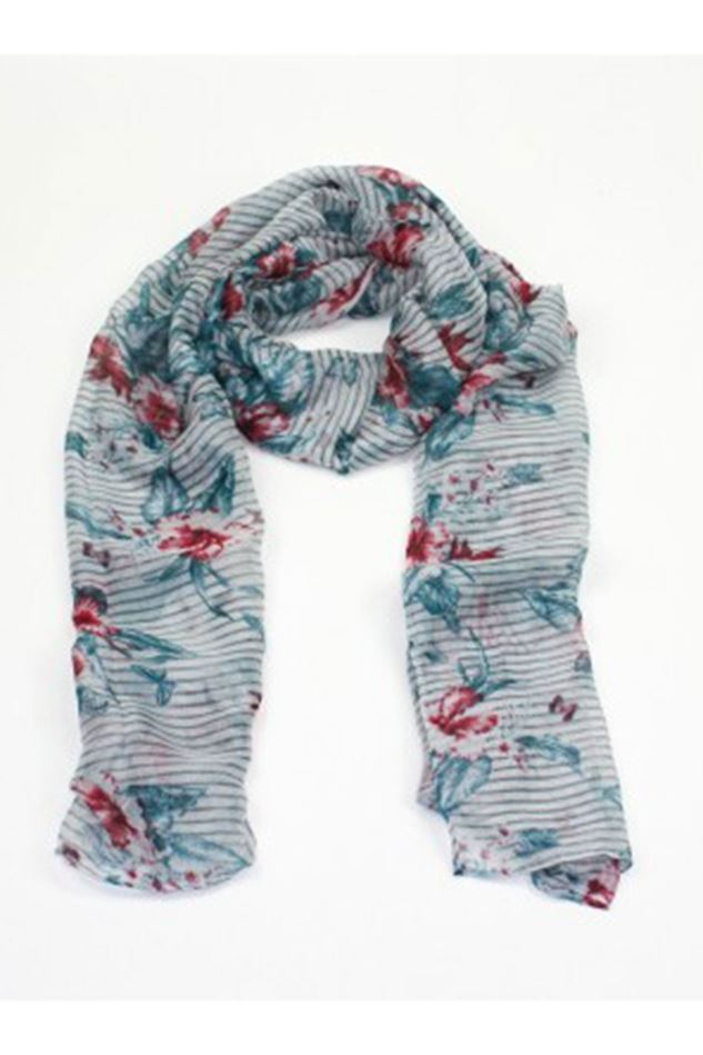 Picture of Poppy Flowers and Butterflies Scarf