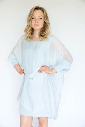 Picture of Inis Collection Silk Mix Batwing Dress