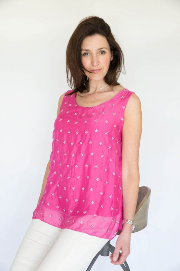 Picture of Inis Collection Silk Mix Star Top