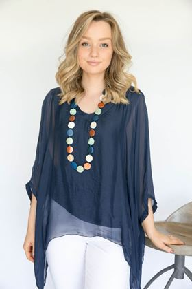 Picture of Inis Collection Silk Mix Batwing Top