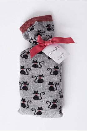 Picture of Thought Black Cat Socks in a Bag