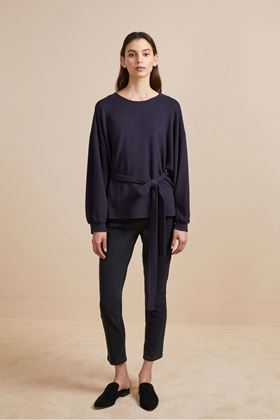 Picture of French Connection Freya Texture Jersey Tie Waist Top