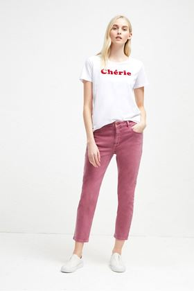 Picture of French Connection Cherie Slogan T-shirt