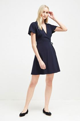 Picture of French Connection Alexia Crepe Jersey Wrap Dress