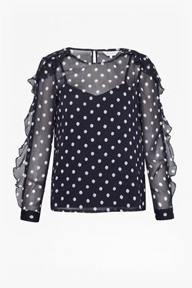 Picture of Great Plains Dot Mix Round Neck Top