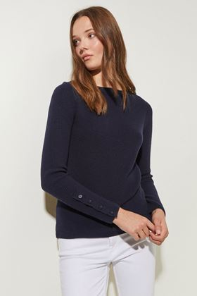 Picture of Great Plains Rib Knit Slash Neck Jumper