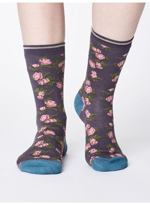 Picture of Thought Cottage Print Bamboo Socks