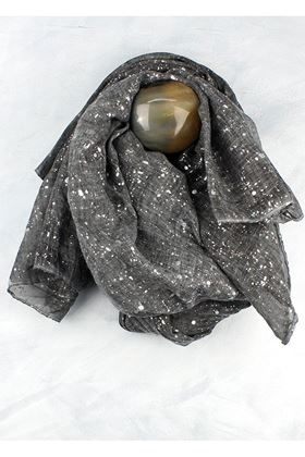 Picture of Scarf with Silver Splatter Print