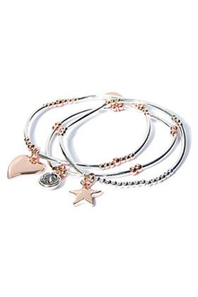 Picture of Envy Multi Strand Heart and Star Charm Bracelet