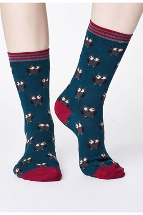 Picture of Thought  Thought Owlie Bamboo Owl Socks