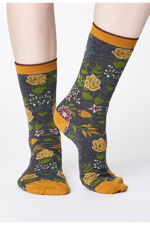 Picture of Thought Garden Floral Print Bamboo Socks