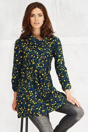 Picture of Adini Falling Leaves Print Irene Tunic