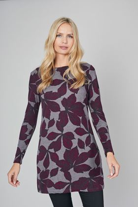 Picture of Lily & Me Angela Chestnut Leaves Tunic